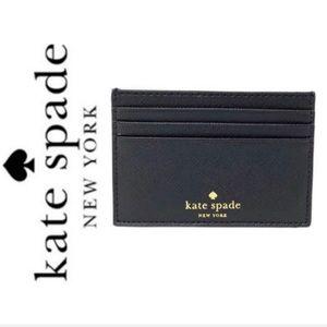 NWT Kate Spade Leather card holder black